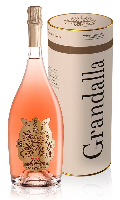 MAGNUM GRANDALLA de LUXE Swarovski Elements Rosé Pinot Noir Reserva Brut Organic farming 1.5L